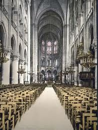 Inside Notre Dame, been there; breathtaking!