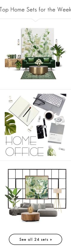 """""""Top Home Sets for the Week"""" by polyvore ❤ liked on Polyvore featuring interior, interiors, interior design, home, home decor, interior decorating, Rustico, ModShop, DENY Designs and home office"""