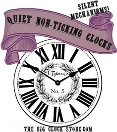 Big Wall Clocks and Customizable Large Wall Clocks Big Wall Clocks, White Clocks, Floral Clock, Clocks For Sale, Looks Vintage, Vintage Style, Black Accents, Ticks, Design Crafts