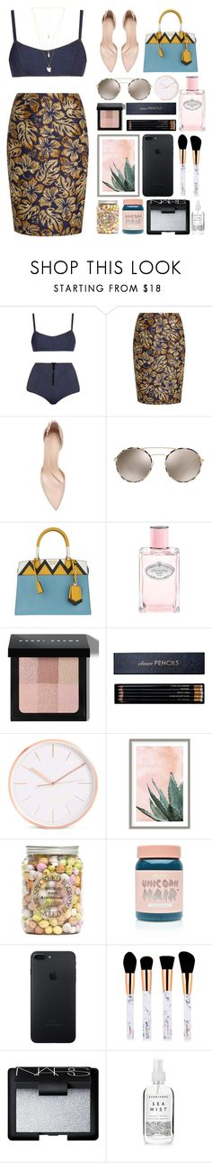 """5.810"" by katrinattack ❤ liked on Polyvore featuring Lisa Marie Fernandez, Prada, Bobbi Brown Cosmetics, Sloane Stationery, Art Addiction, Lime Crime, NARS Cosmetics, Herbivore, Natalie B and holiday"