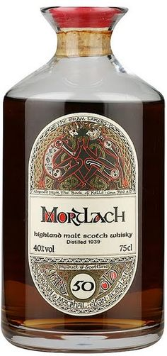 Sometimes the minimal approach has the best effect with a bottle design.  mortlach whisky - 50 years old