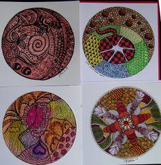 Janet's Art Play: Zentangle/ Zendala Madness!
