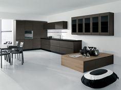 cucina classica lineare l.360 cm con penisola centrare. anta ... - Cucine Arredissima