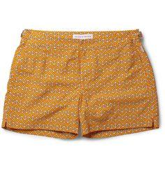 Setter Short-Length Printed Swim Shorts By Orlebar Brown Bermudas Shorts, Swim Shorts, Summer Shorts, Billabong, Men Trousers, Pants, Navy Blue Shirts, Cute Dresses, Work Wear