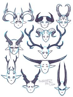 Tagged with drawing tutorial; Pointy teeth and horns tips and references Fantasy Character Design, Character Design Inspiration, Character Art, Character Design Tips, Character Reference, Character Design References, Cartoon Kunst, Creature Concept Art, Drawing Expressions