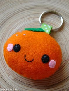 NEW! Happy orange keychain by she.likes.cute, via Flickr