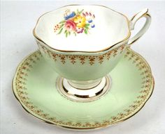 Vintage c. 1950s Royal Albert hand-painted tea by BuyfromGroovy