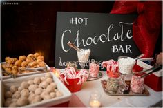 hot chocolate bar / LinneaLiz Photography / www.LinneaLiz.com / The Rathskeller, Indianapolis
