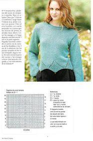 Delicadezas en crochet Gabriela: 38 Prendas tejidas paso a paso Pullover, Album, Knitting, Sweaters, Fashion, Tricot, Fabrics, Knit Wrap, Sweater Knitting Patterns