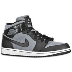 Jordan 1 Phat Mid - Men's - Cool Grey/Black/White