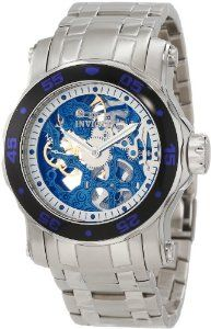 c7438539f63 Invicta Men s 10306 Pro Diver Mechanical Blue Skeleton Dial Watch