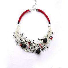 Summer Necklace Art Necklace Linen Necklace Linen Thread