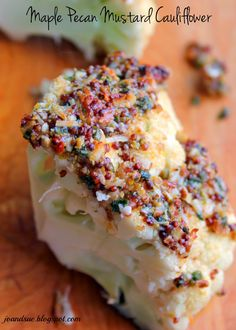 Jo and Sue: Maple Pecan Mustard Cauliflower (Roasted). Perfect side for Easter dinner! (Healthy and low cal too) Healthy Dishes, Dinner Healthy, Healthy Eats, Healthy Recipes, Easter Dinner, Holiday Dinner, Cauliflower Roasted, Good Food, Yummy Food