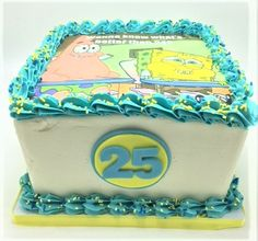 Spongebob 25th Birthday Cake By Flavor Cupcakery