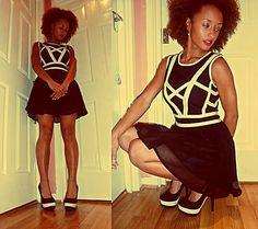 Black with White stripes. (by Kumba Dauda) http://lookbook.nu/look/3830085-Black-with-White-stripes
