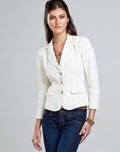 Kaela Eyelet Blazer - Jackets & Hoodies - Lucky Brand Jeans
