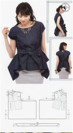 55 Trendy Ideas For Sewing Patterns Kimono Top Dress Sewing Patterns, Blouse Patterns, Sewing Patterns Free, Clothing Patterns, Blouse Designs, Skirt Patterns, Coat Patterns, Kimono Pattern, Top Pattern