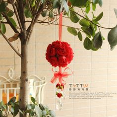 Wholesale Artificial flower rose ball silk flower Real Touch rose ball Home decorations for Wedding Party, $4.48/Piece | DHgate