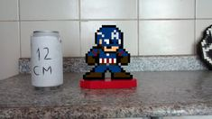Capitão America 8 Bits Pixel Art no Elo7 | Eduardo Pixel Art Geek (EC74D5) Pixel Art, 8 Bits, Geek Stuff, Personalized Gifts, Pictures, Geek Things