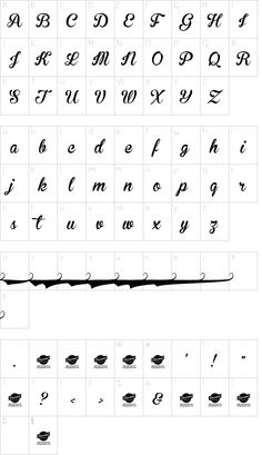 Brannboll Ny Personal Use Only font character map