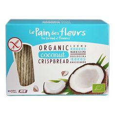 Køb Knækbrød med Kokos Økologisk glutenfri - 125 gram - Le pain des fleurs - Gratis levering