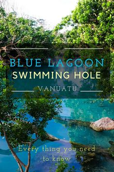 Blue Lagoon Vanuatu (near Port Vila) - Latest Tips and Information Blue Lagoon Swimming Hole - Vanuatu - World Adventure Family Blue Lagoon Fiji, Family Adventure, Adventure Travel, Adventure Awaits, Mystery Island Vanuatu, Vanuatu Port Vila, Fiji Travel, Swimming Holes, South Pacific
