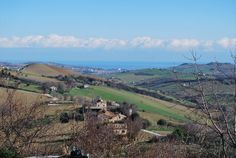 Views from Monterubbiano toward the Adriatic in Le Marche