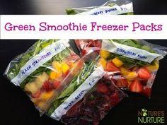 Green Smoothie Freezer Packs + Recipe Ideas