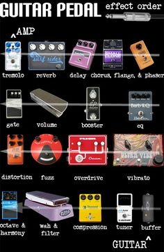 See What Effects Pedals Can Do For Your Guitar Playing - Play Guitar Tips Guitar Pedal Board, Diy Guitar Pedal, Guitar Rig, Guitar Tabs, Cool Guitar, Acoustic Guitar Pedals, Guitar Chord Chart, Guitar Sheet, Guitar Players