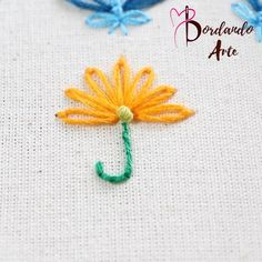 Bead Embroidery Tutorial, Hand Embroidery Videos, Flower Embroidery Designs, Embroidery Patterns, Couture Embroidery, Beaded Embroidery, Cross Stitch Embroidery, Hand Painted Fabric, Sewing Basics