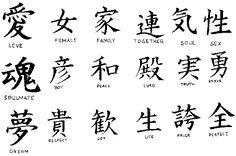 ideogrammi giapponesi significato - Cerca con Google