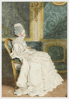 Louis Carrogis Carmontelle (French, 1717-1806) «Madame Le Mercier» 1770