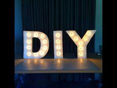 DIY LIGHT SIGN BOARD (tumblr room decor) ♥ - YouTube