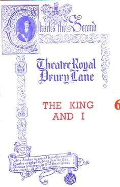 The King and I  Drury Lane Theatre Programme 1953 with Valerie Hobson   Ref.723