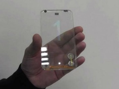 Protótipo de smartphone transparente desenvolvido pela Polytron Technologies, de Taiwan