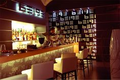 Beige, cocktail bar, design and made by RPM Proget