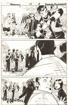 Comic Art For Sale from Anthony's Comicbook Art, Uncanny X-Men #17 p.3 - Savage Land Danger Room Simulator - 2014 Signed by Comic Artist(s) Chris Bachalo, Tim Townsend