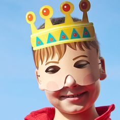Hey, I found this really awesome Etsy listing at https://www.etsy.com/listing/122323785/king-paper-mask-children-party-favor