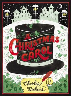 A CHRISTMAS CAROL by Charles Dickens -- A timeless holiday classic with stunning, colorful chalk art cover illustration. Puffin Chalk