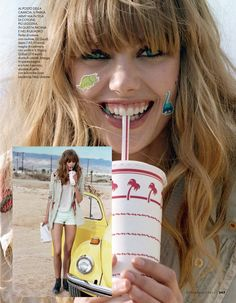 visual optimism; fashion editorials, shows, campaigns  more!: on the road: frida gustavsson by matt jones for elle italia may 2014