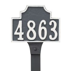 Montague Metal Products Beckford Petite Address Plaque Finish: Sand/Silver