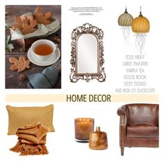 """Fall Home Decor"" by helenevlacho ❤ liked on Polyvore featuring interior, interiors, interior design, home, home decor, interior decorating, Howard Elliott, Jennifer Umphress Studios, Laura Mercier and abcDNA"