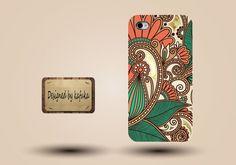 Iphone case, Iphone 4 case, Iphone 4s case, Iphone 5 case, unique handmade hard Plastic case, indian floral pattern,p 112. $9.99, via Etsy.
