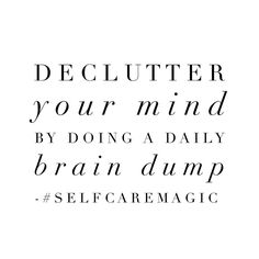 The weekend is upon us and it's a great time to simply let go of non-essentials that have our brains bogged down and our thoughts preoccupied. By a show of hands who's going to try this? I find that soft jazz and/or a cup of tea helps me to debrief. I'm curious to know what works for you?! #selfcaremagic