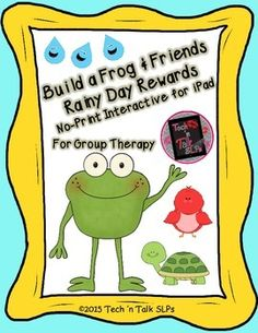 This Build a Frog & Friends activity can be used as reinforcement with a group in almost any lesson.The activity can be used in articulation drill, fluency, or any language activity in which students are required to take turns responding.  You will need a single 6 sided die and the worksheet, word/vocabulary lists, or language activity of your choice.