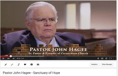 """Pastor John Hagee says in reference to Sanctuary of Hope, """"I know that it is an ocean of need. But it is wrong to see a need and not try to meet that need. We can help some of them. And because we can, we should. And because this is the Commission of God, we are."""" Watch this video to find out more."""