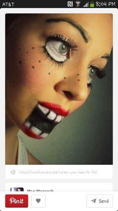 Halloween makeup ^^