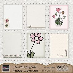 FREE Renewal Journal Cards By Wordcritter-Creative [ PS May 2015 Blog Train ]