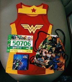 April 1   Wonder Woman, World of DC Comic All Star Fun Run Race Kit