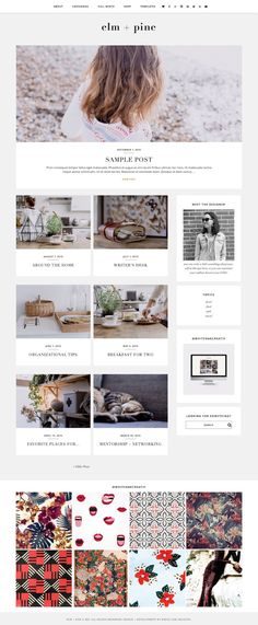 Elm + Pine | Premade Blog Theme by White Oak Creative